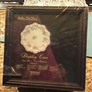 Walnut wood frame shadow box Display treasures